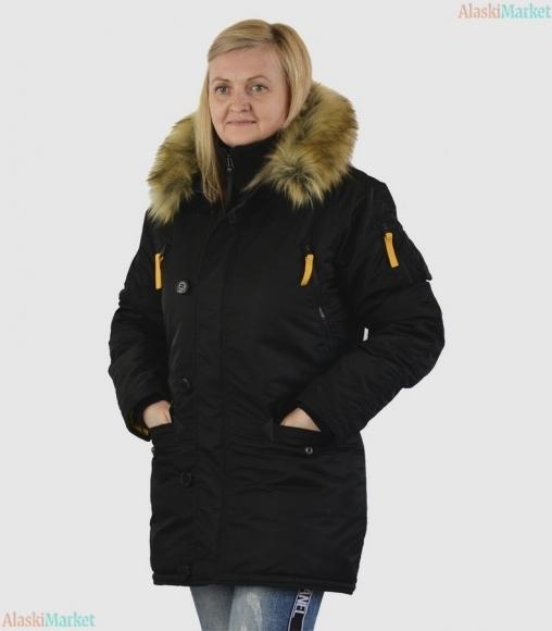 Аляска женская HUSKY WOMAN'S BLACK/YELLOW