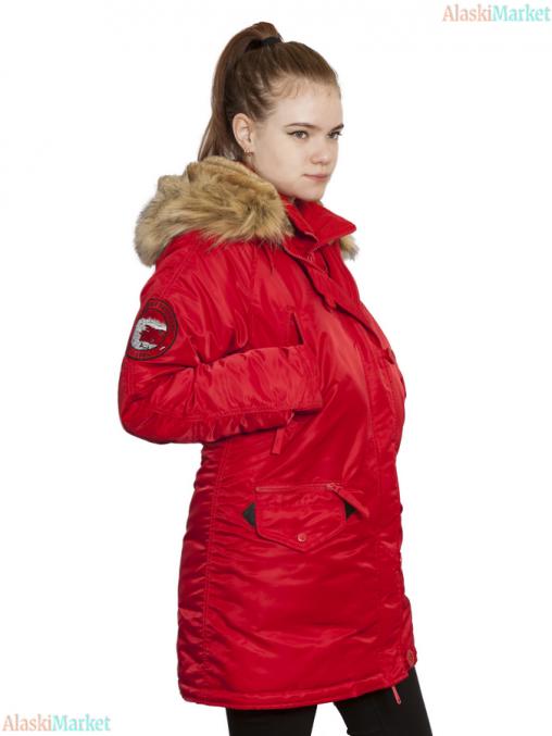 Аляска женская HUSKY WOMAN'S FLAG RED/FLAG RED