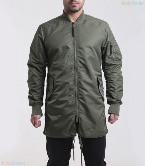 Куртка B-17 LONG LIGHT SAGE GREEN/ORANGE