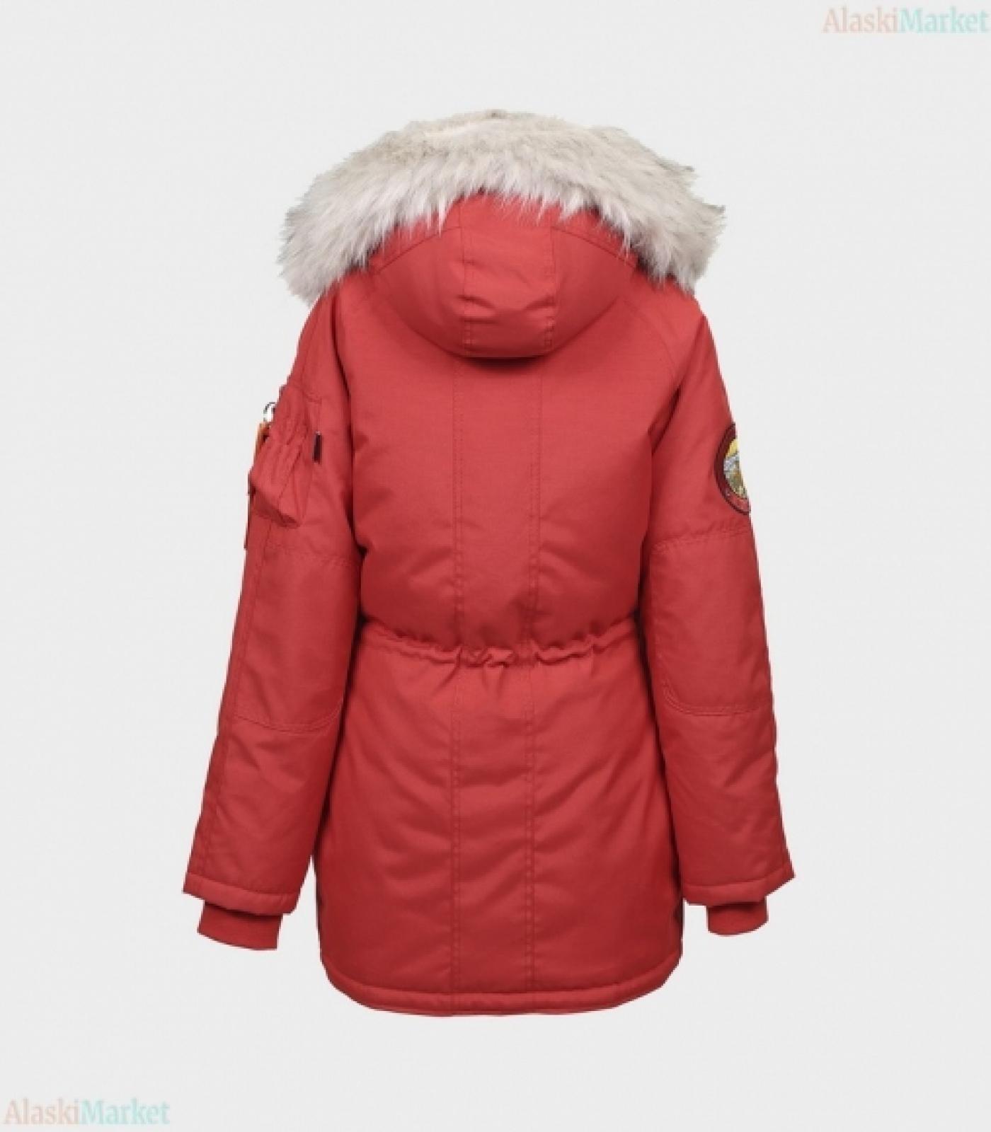Аляска женская OXFORD SIMPLE RED/WHITE GREY
